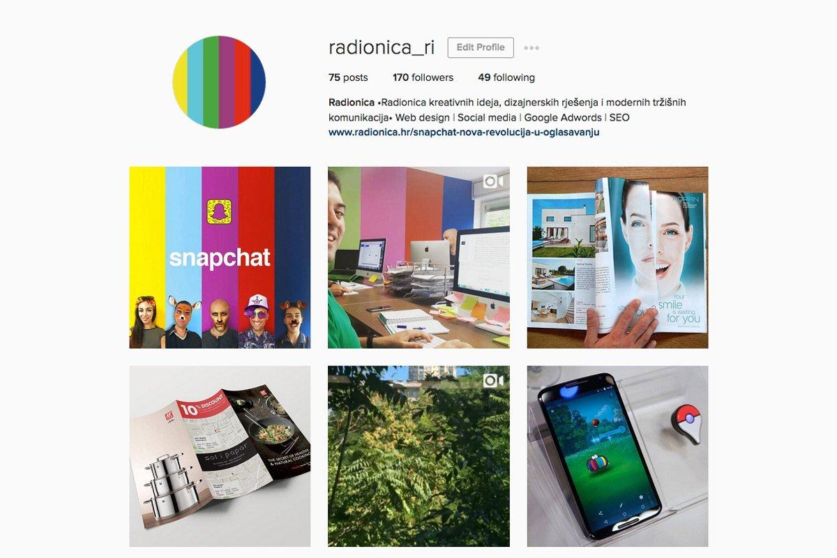 Instagram poslovni profil