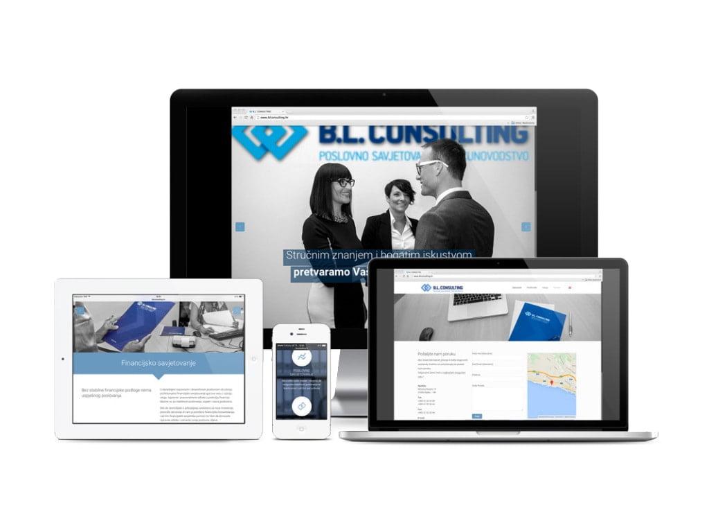 izrada responzivne web stranice za BL Consulting by radionica