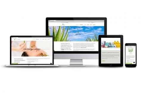 Web stranica za Aloe veru