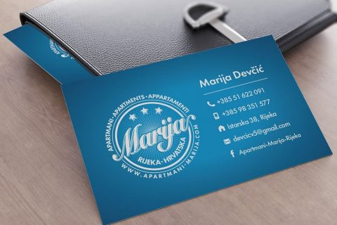 Design of logo and business cards for Apartments Marija