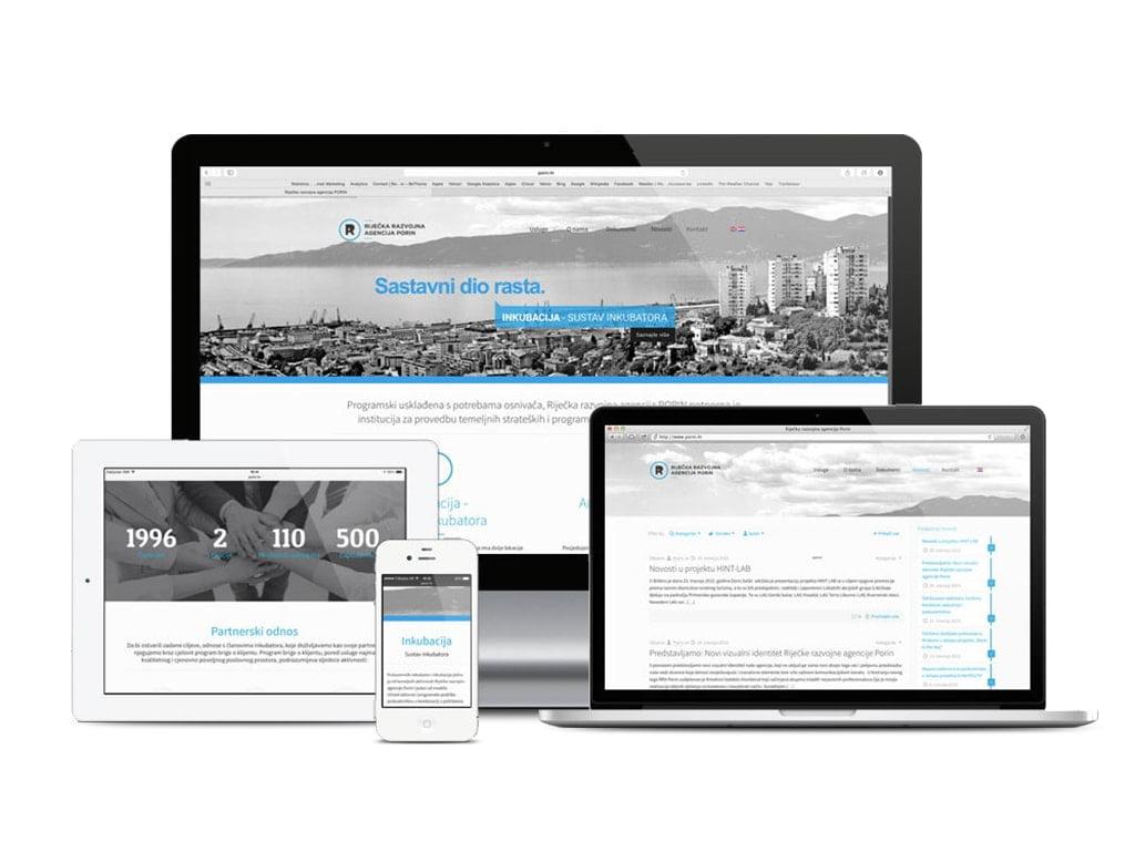 Izrada responzivne web stranice za agenciju Porin by radionica