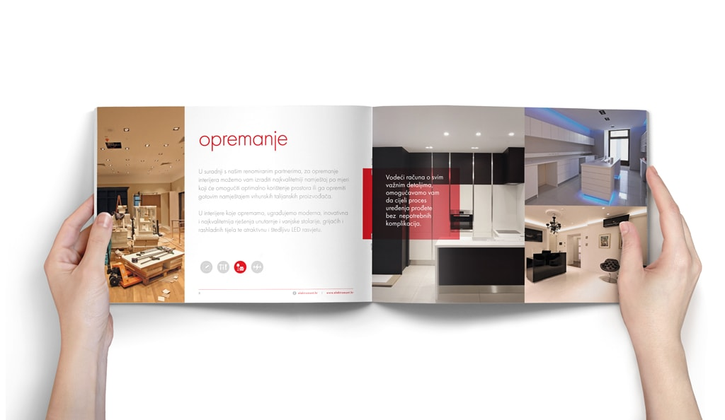 Dizajn brošure Elektromont by Radionica