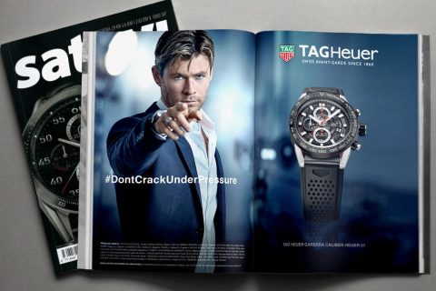 Ad design – Tag Heuer