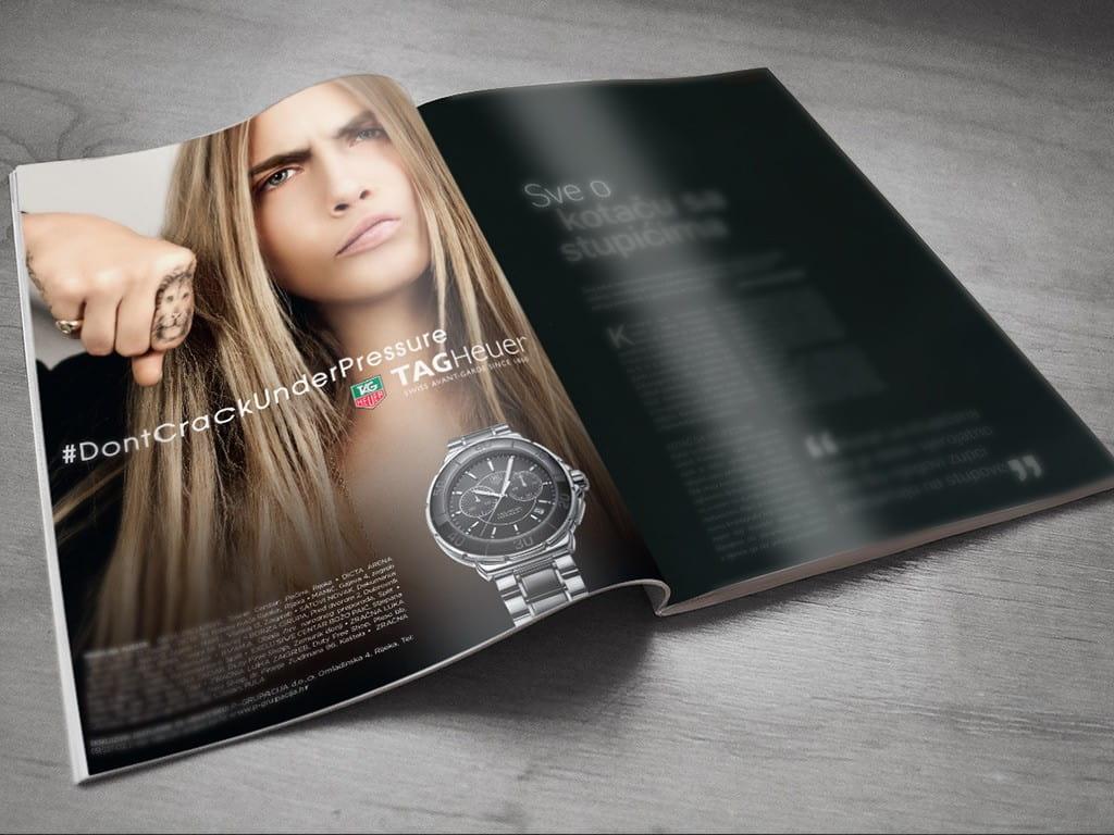 Dizajn oglasa za Tag Heuer