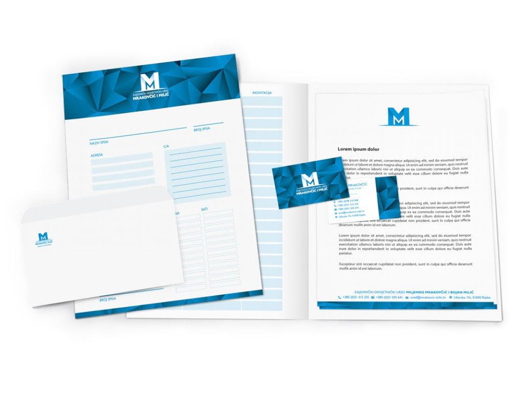 Dizajn vizualnog identiteta dizajn kuverte Odvjetnički ured