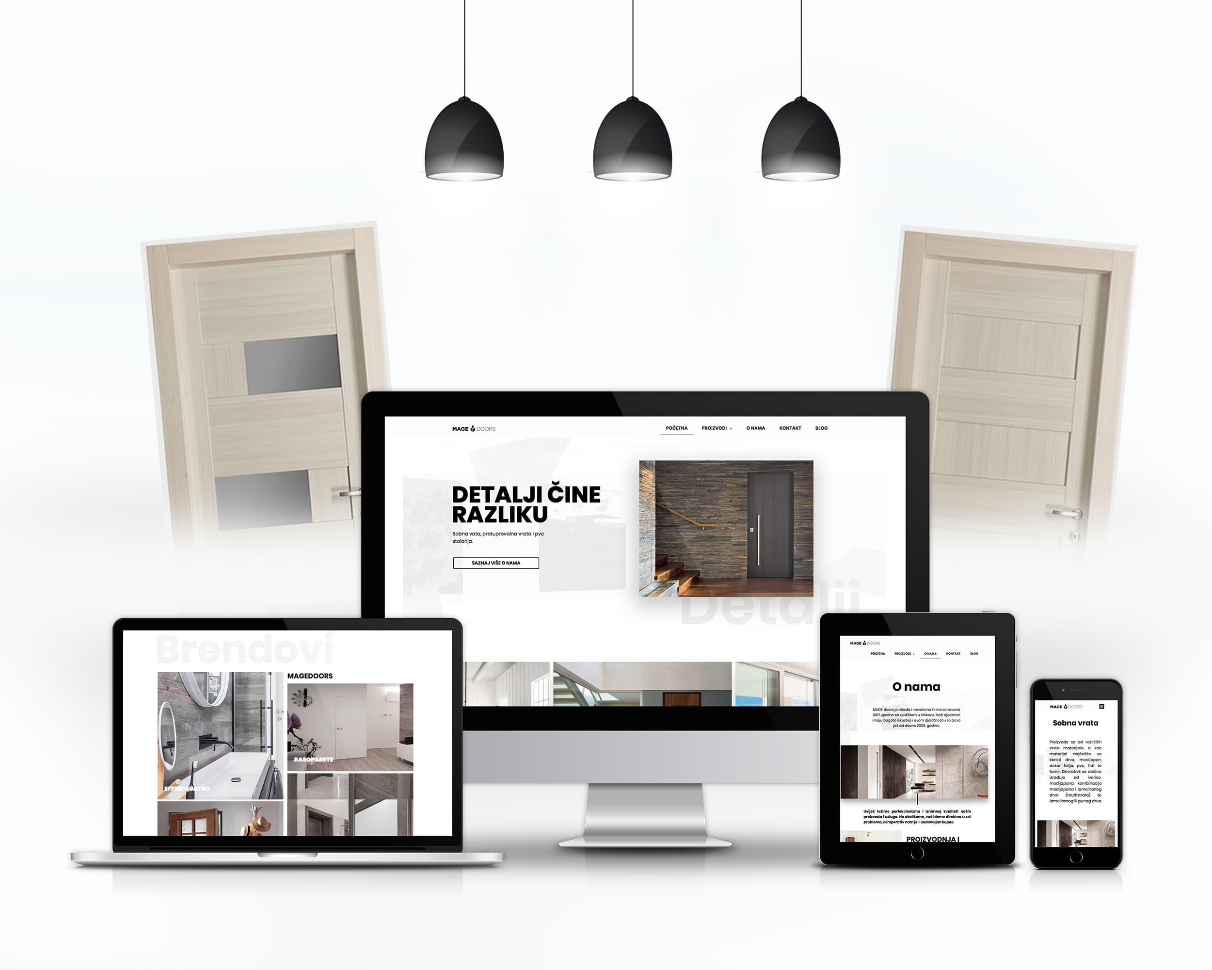 Izrada nove web stranice Mage doors