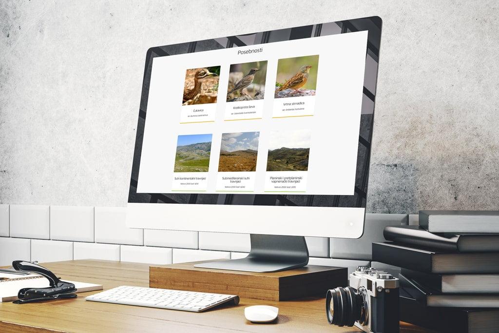 Izrada web stranice za projekt Dinara back to LIFE
