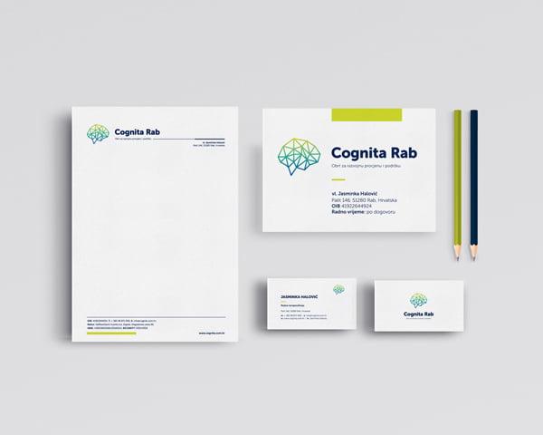 Poslovni materijali Cognita Rab - dizajn materijala poslovne komunikacije