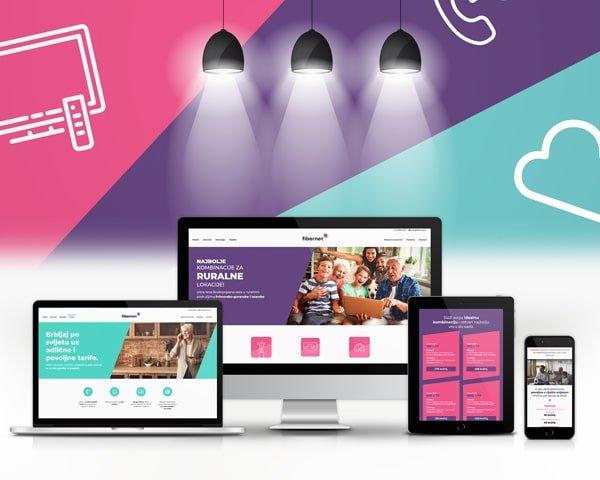 Osmišljavanje koncepta i izrada web stranice za telekom Fibernet